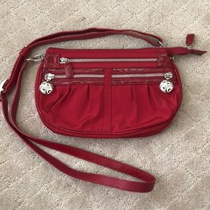 EUC Brighton red nylon crossbody purse